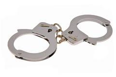 наручники изолировали белизну Стоковое Изображение