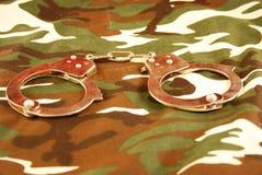 наручники камуфлирования Стоковая Фотография
