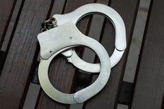 наручники Принуждение и наказание стоковая фотография rf