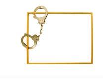 наручники рамки Стоковая Фотография