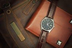 Наручные часы, винтажный стиль стоковые фотографии rf