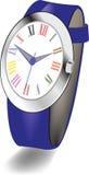 Наручные часы женщин с римскими цифрами Стоковые Фотографии RF