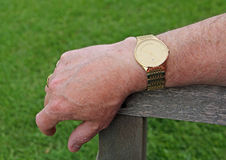 Наручные часы золота Gents Стоковое Изображение RF