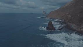 Нарушая мистическая атмосфера накануне шторма в Атлантическом океане сток-видео