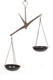нарушенные равновесие маштабы Стоковые Изображения RF