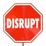 Нарушьте изменение знака стопа Innovate Reinvent переосмыслите Стоковое Изображение