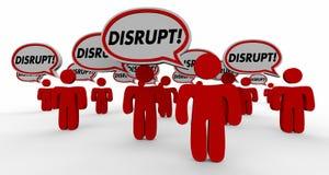 Нарушьте изменение Innovate пузырь речи Стоковое фото RF