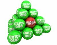 Нарушьте против изменения статус-кво Innovate пирамида Стоковые Изображения RF
