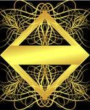 насекомые золота рамки Стоковое Изображение RF