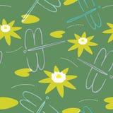 насекомые предпосылки безшовные Стоковые Изображения