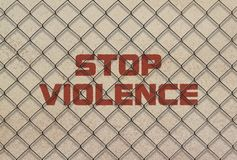 Насилие стопа текста стоковые изображения rf