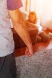 Насилие в семье дома Стоковые Фото