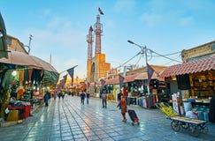 Насладитесь покупками в Кермане, Иране Стоковая Фотография