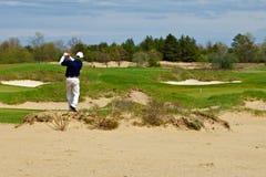 наслаждаться играть человека гольфа Стоковая Фотография RF