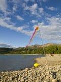 наслаждаться озером Стоковое Фото