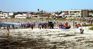 Наслаждение пляжа передняя стоковое фото rf