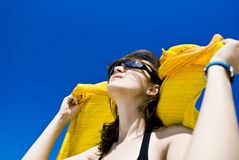 наслаждаться солнцем Стоковое Изображение