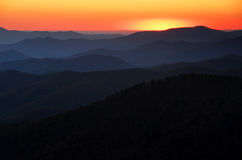 наслаивает заход солнца Стоковое Фото