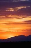 наслаивает заход солнца Стоковые Фото