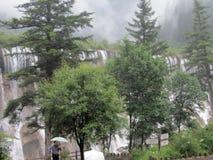 Наследие водопад-Jiuzhaigou-мира NuoRiLang естественное Стоковые Изображения