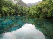 Наследие Jiuzhaigou-мира естественное Стоковая Фотография