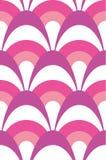 Наслоенная современная scalloped картина пинка, пурпурных и белых безшовная вектора иллюстрация штока
