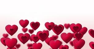 Наслоенные сердца валентинок Стоковые Изображения RF