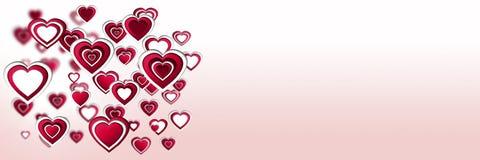 Наслоенные сердца валентинок Стоковая Фотография RF