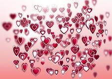 Наслоенные сердца валентинок Стоковое фото RF