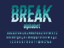 Наслоенный шрифт иллюстрация штока