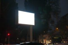 Насмешка афиши рекламы монитора улицы города Nigt вверх Стоковые Изображения RF