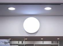 Насмешка вверх по дисплею фронта магазина округлой формы Signage Стоковое Изображение RF