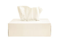 Насмешка коробки ткани вверх по белой ткани Стоковое фото RF