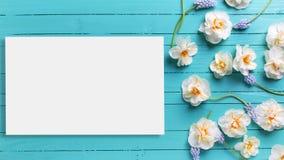 Насмешка открытки вверх по шаблону для дизайна Стоковое фото RF