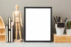 Насмешка рамки вверх на таблице стоковая фотография
