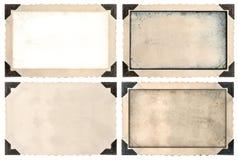 Насмешка рамки фото поднимает с углом, краями и пустым полем Стоковая Фотография RF