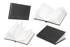 Насмешка черной книги вверх изолированная на белой предпосылке Стоковая Фотография