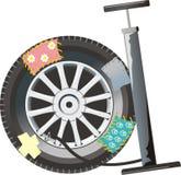 насос автомобиля шины иллюстрация вектора