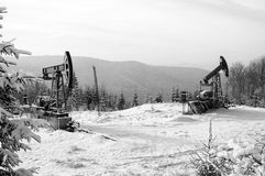 насос масла Россия индустрии Нефтедобывающая промышленность equipment Снаряжение для масла извлечения Стоковое Изображение RF