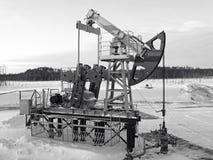 насос масла Россия jack извлечения Сибирь западный Стоковые Фото