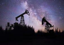 Насос на заднем плане звезд в Карпатах Стоковые Фотографии RF