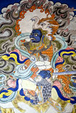 Настенная живопись Будды на монастыре Hemis, Leh-Ladakh, Индии Стоковые Фотографии RF