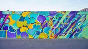 Настенная живопись искусства улицы Mur Роза Паркс в Париже Стоковая Фотография