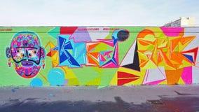 Настенная живопись искусства улицы Mur Роза Паркс в Париже Стоковые Изображения
