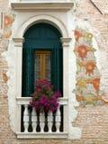 Настенная живопись с окном Стоковые Изображения