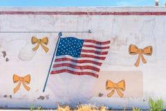 Настенная роспись американского флага стоковое фото