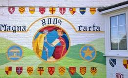 Настенная роспись Англия Carta больших винных бутылок Стоковая Фотография RF
