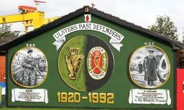 Настенная роспись Белфаст Северная Ирландия ассоциации обороны Ольстера Стоковые Изображения RF