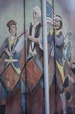 Настенная роспись военного оркестра - американский Colonial истории Стоковое Изображение RF
