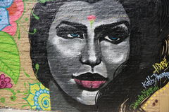 Настенная роспись в Бруклине Стоковая Фотография